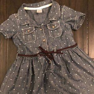 Never worn (Toddler)  Denim Dress